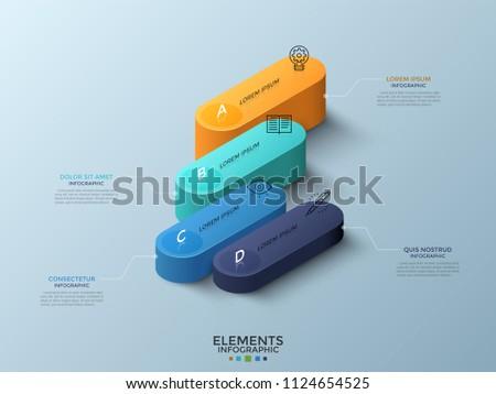 Vetores de modelo de caixa de texto de volume download vetores e isometric comparison chart with 4 colorful rounded elements or columns thin line icons and text reheart Image collections