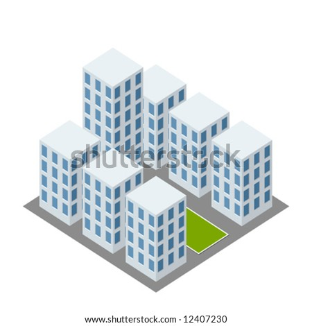 isometric complex icon - stock vector