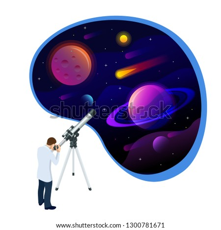 isometric concept of astronomer