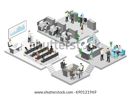 isometric conference hall