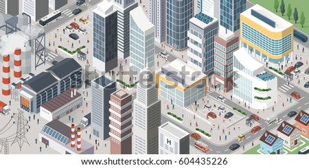 isometric contemporary city