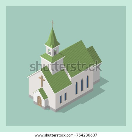 isometric 3d christian catholic
