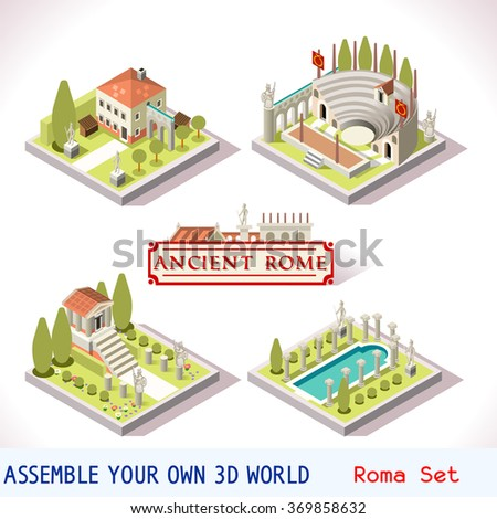 isometric 3d city building