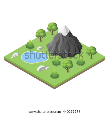 isometric 3d illustration of