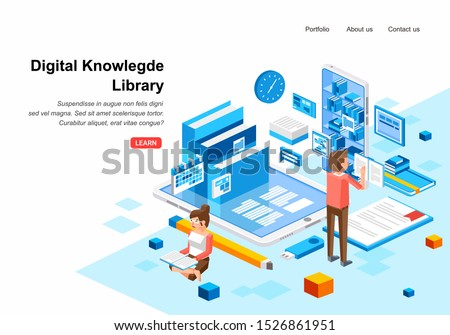 isometric digital knowledge