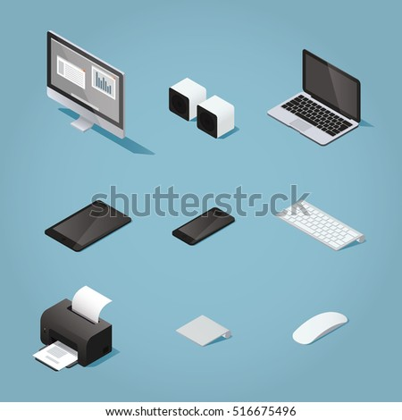 isometric digital vector...