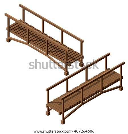 isometric drawing of a wooden