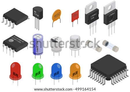 isometric electronic components ...