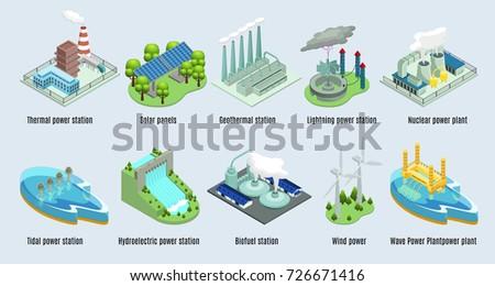 isometric environmental eco...