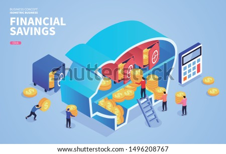 Isometric financial savings and financial security