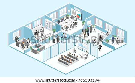isometric flat 3d abstract