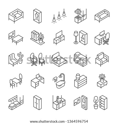 isometric furniture and
