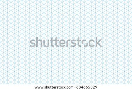 Isometric grid lines blue