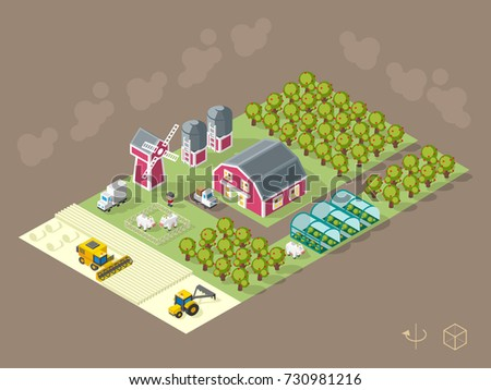 Cattle Isometric Vector - Download Free Vectors, Clipart