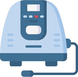 Isometric Home Medical Oxygen Concentrator.