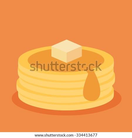 isometric icon of pancakes