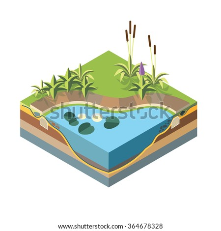 isometric landscape design icon
