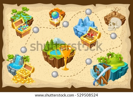 isometric levels game islands
