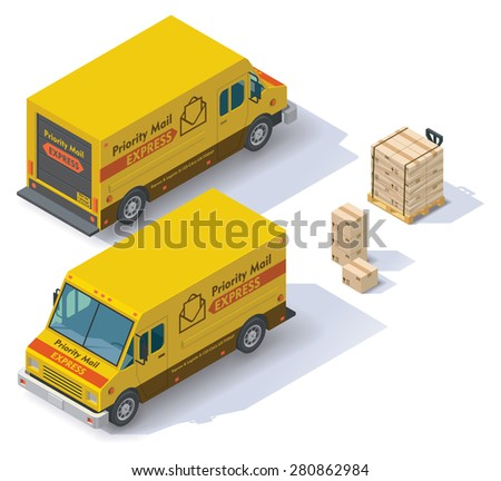 isometric mail step van front