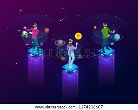isometric man in virtual