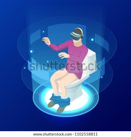 isometric man in virtual