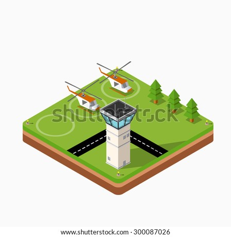 isometric map of the airport of