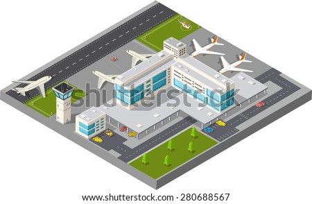 isometric map of the city's