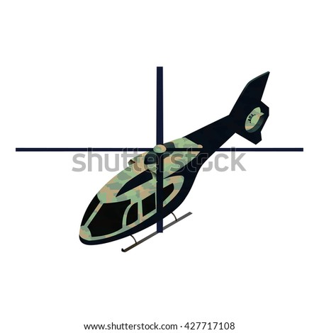 isometric military helicoper