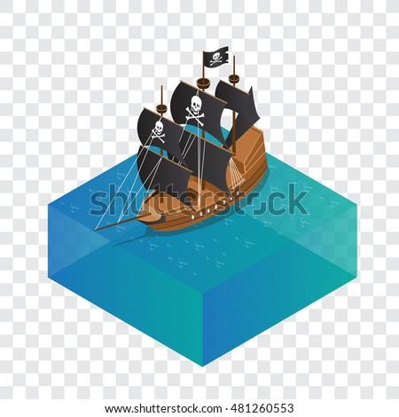 isometric model pirate ship