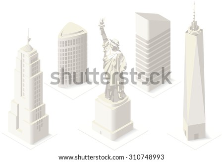 Map Of New York City With Landmarks.Manhattan Map Vector Illustration Download Free Vector Art Stock