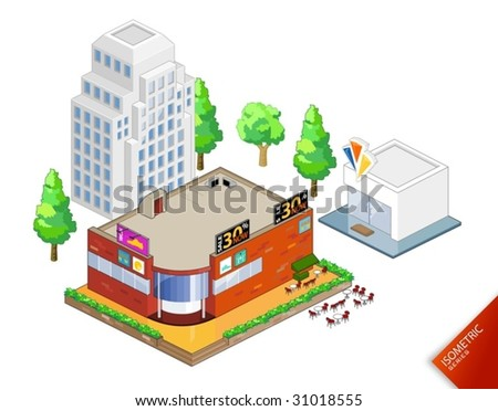Isometric Objects Vector