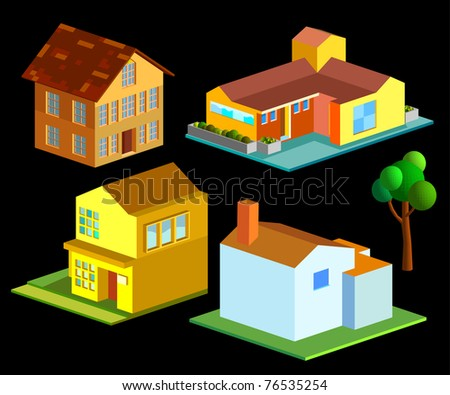 isometric of several house group