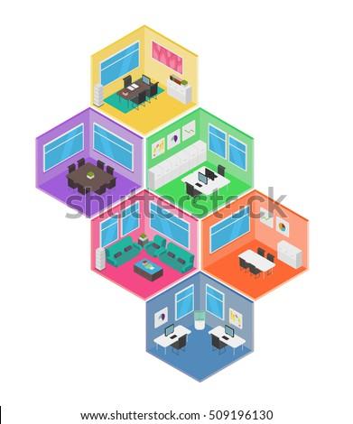 Isometric Office vector illustration