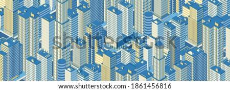 isometric panoramic city