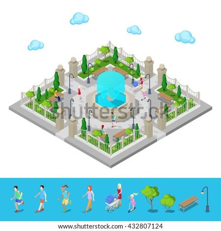 isometric park city park