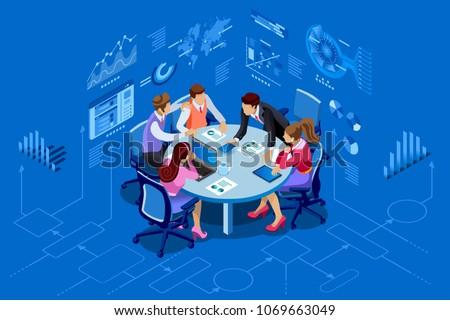isometric people team