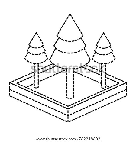 Isometric pine tree design