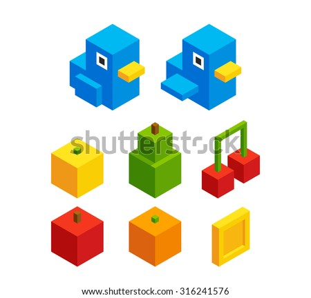 isometric pixel art assets for