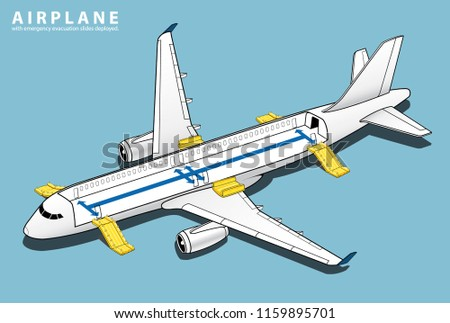 isometric plane crash airplane