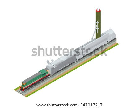 isometric railway rolling