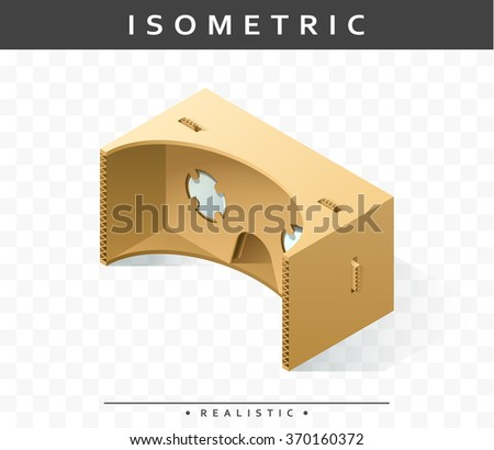 isometric realistic cardboard