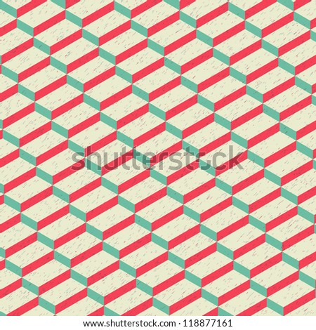 Isometric Rectangular Texture Pattern Vector Background - stock vector