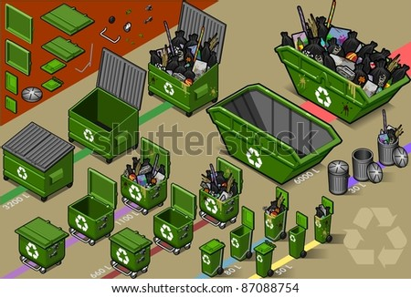 Isometric Recycle Trash Waste Garbage Container. Icon. Garbage Can JPG. Garbage Can JPEG. Picture. Image. Graphic. Illustration. Drawing. Object. Garbage Can Vector. Garbage Can EPS. Garbage Can AI.