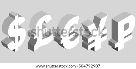 World Currency Symbol Vector - Download Free Vector Art