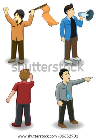 isometric several peoples