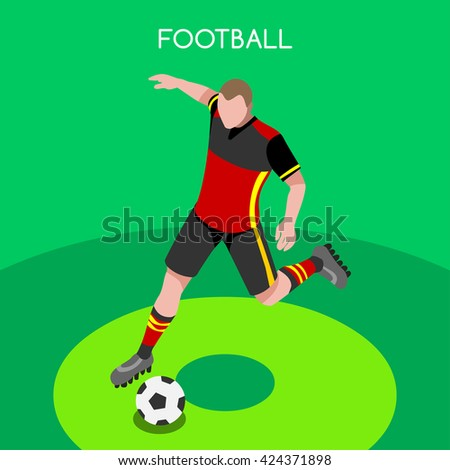 isometric soccer football icon