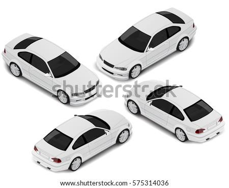 isometric sport car