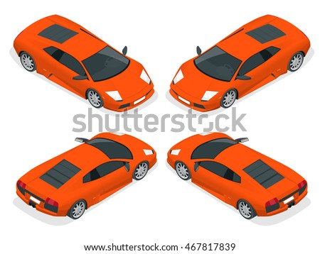 isometric sport cars famous