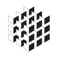 isometric squares stacked in a block. suitable for logo or other design