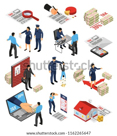 isometric tax inspector auditor